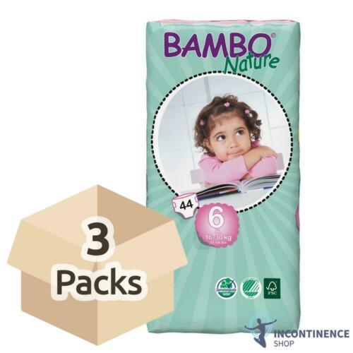 Junior Nappies - 3 Packs of 44-1180ml 16-30kg Bambo Nature Size 6
