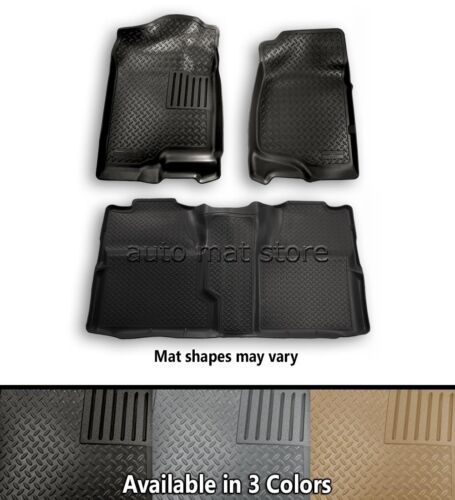 Husky Liners Classic Style Front and 2nd Row Floor Mats Choice Of Color