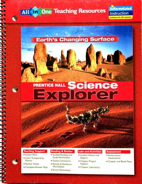 Science Explorer Earth S Changing Surface All In One Teaching Resources By Michael J Padilla Ioannis Miaoulis And Martha Cyr Hardcover