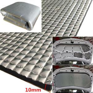 Heat-Shield-Sound-Insulation-Car-Hood-Noise-Control-Mat-1x1-4M-Aluminum-Foil-Pad