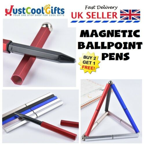Magnetic Decompression Ball Point ADHD Anxiety Office School Writing Pens