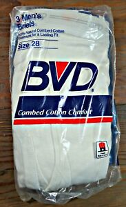 MENS BVD CLASSIC BRIEFS SMALL 1999  COTTON ~ 3 PAIR NEW IN PACKAGE