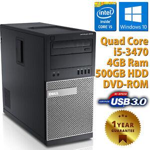 PC-Computer-Starr-Desktop-Tower-Dell-9010-Quad-Core-i5-3470-4GB-500GB-Windows