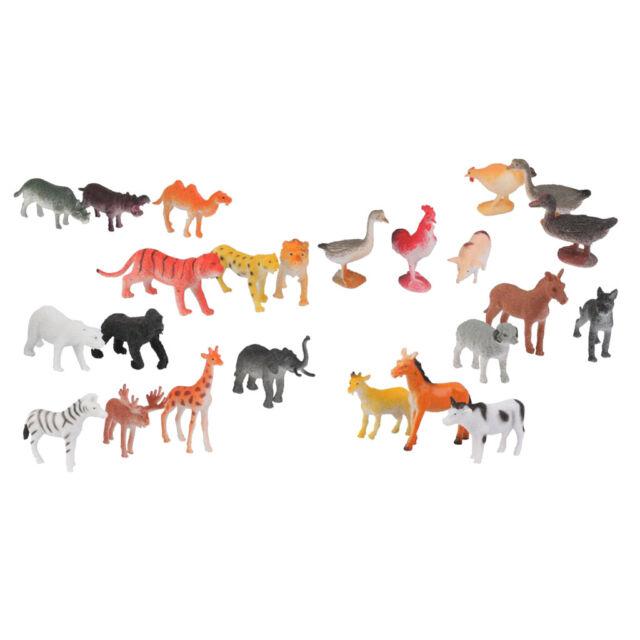 Kids Wildlife Animal Learning Toy Set 36Pcs Plastic Monkey Action Figure