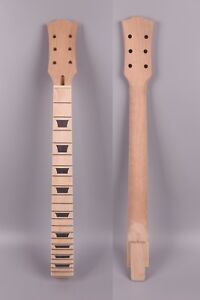 New Electric Guitar Neck 22 Fret 24.75 Inch Maple Wood Trapezoid Inlay Paddle Sports & Entertainment