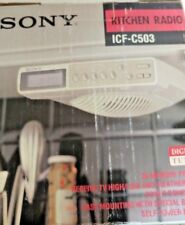 Item 1 Sony Vintage Icf C503 Under Cabinet Synthesized Kitchen Radio Tv Weather Fm Am