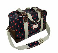 NWT Candyflowers Small Traveling Weekender Carry on Bag Polk Dot High Quality