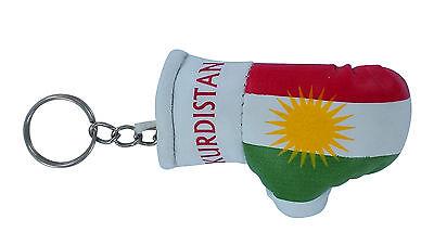 mini boxing gloves keychain keyring key chain ring NEW leather Flag  KURDISTAN