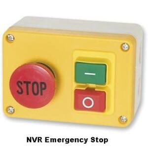 Nvr no volt release motor stop start emergency stop for Stop start motor control