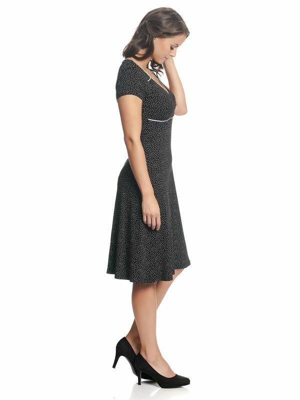 Vive Maria Kleid schwarz weiße Punkte Camille En Ville dress schwarz 345651