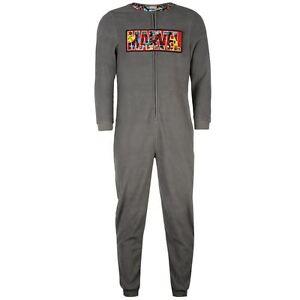 de1a914e8b Das Bild wird geladen Marvel-Jumpsuit-Hausanzug-Schlafanzug-Onesie-Lounge- Herren-Gr-