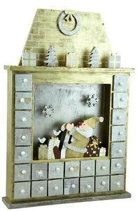 Archipelago Santa Claus Fireplace Reusable Advent Calendar Ebay