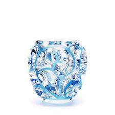 Lalique Tourbillons Vase, Clear Blue Painted