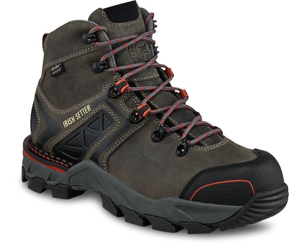 Irish Setter Crosby para 83214 para Crosby mujer Puntera De Seguridad No Metálicos Impermeable botas gris af598c