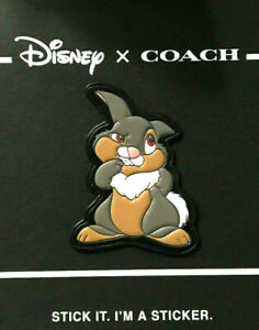COACH-X-DISNEY-Bambi-THUMPER-LEATHER-STICKER-Patch-LIMITED-EDITION-Collectible