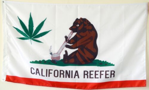 California reefer flag Banner 3x5Feet