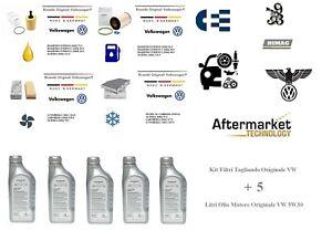 Kit-Filtri-Tagliando-Originale-VW-GOLF-PLUS-1-9-TDI-5-Litri-Olio-VW-5W30