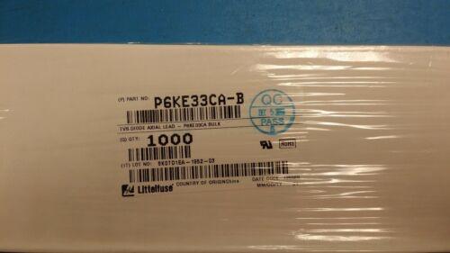 25 PCS P6KE33CA P6KE33CA-B LITTELFUSE TVS Diodes 600W 28.20V DO204AC ROHS