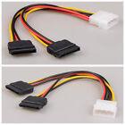 Hot Molex to 2*SATA Power Dual Power Adapter Splitter convert Pc Power to S-ata