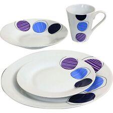 16PC Dinner Set Plates Bowls Mugs Dinnerware Kitchen Service for 4 Dining Set