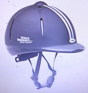 Horka-Techno-Sport-Reithelm-schwarz-Gr-S-M-53-57cm-vestellbar-Turn-key-system
