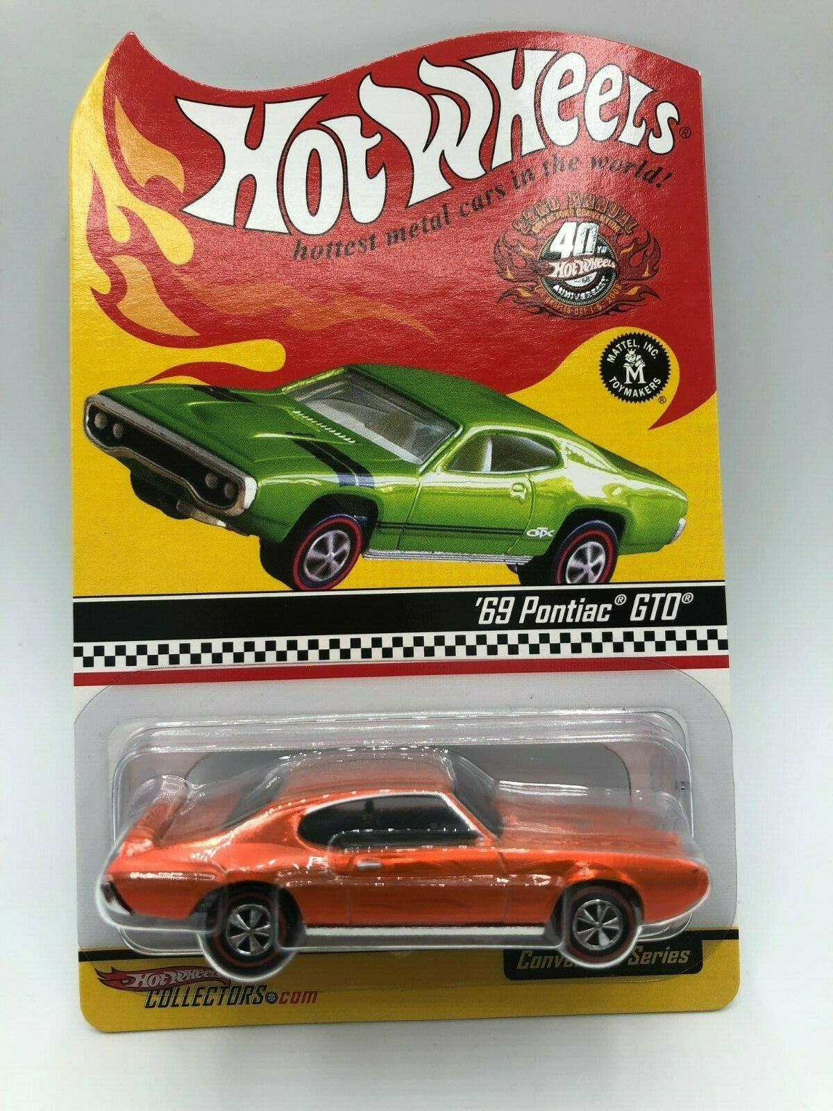 Hot Wheels RLC 22nd Convention 1969 Pontiac GTO Rare, EHTF In Protector