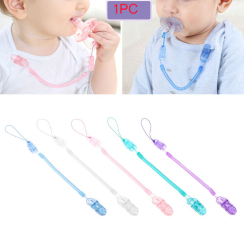 Infant Pacifier Chain Nipple Strap Baby Teething Dummy Clips Soother Chew Toy