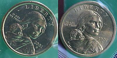 2006 P and D Sacagawea Dollar BU 2 Satin Coins Cello US Mint Set Native American