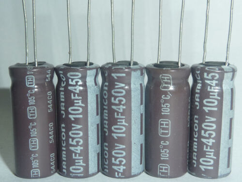 20pcs 10uF 450V JAMICON TH 10x25mm  Low ESR Long Life Capacitor