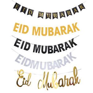 Decor-papier-Garland-Eid-Moubarak-Bunting-Banniere-Hanging-Drapeau-Photo-Booth-Props