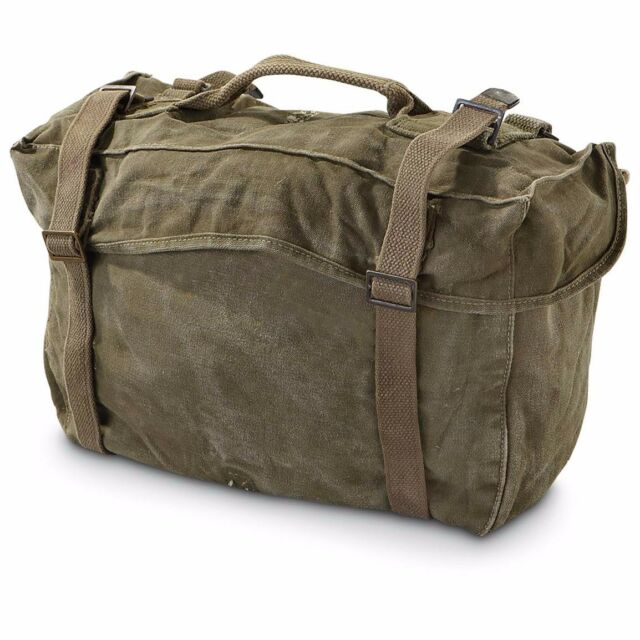 EX ISSUE AMERICAN U.S ARMY MILITARY CARGO BAG M1945 KOREAN ERA US CADETS  SCOUTS 4b38e74f942