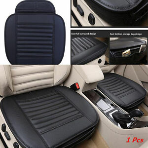 car pu leather full surround bamboo charcoal seat protect mat cover cushion pad ebay. Black Bedroom Furniture Sets. Home Design Ideas