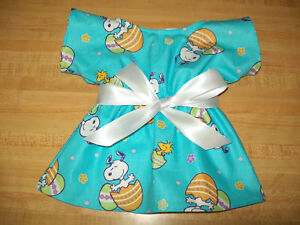 "AQUA BLUE DAISY DAISIES DRESS ONLY W//RIBBON SASH for 15-16/"" CPK Cabbage Patch"
