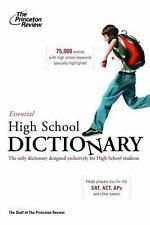 The Essential High School Dictionary (K-12 Study Aids) Princeton Review Paperba