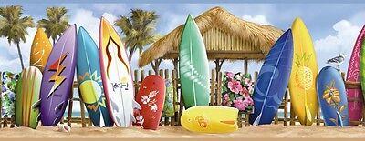 Wallpaper Roll Tiki Vintage Tropical Hawaiian Retro Kiddie Surf 24in x 27ft