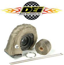 "DEI 010141 Titanium T3 Turbocharger Heat Shield Kit w/ 2"" x 15' Wrap & Ties"