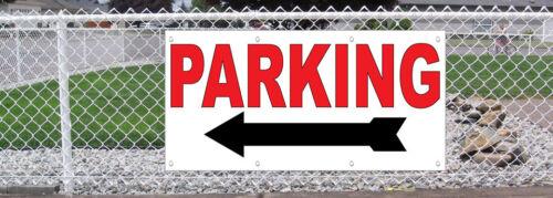 Parking Arrow Left 13 Oz Vinyl Banner Sign With Grommets