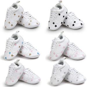 estilo atractivo busca lo último diseño de variedad Dettagli su Bebé Recién Nacido Niño Niña Suela Blanda ZAPATOS PIEL  Zapatillas Cochecito GB