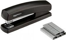 Black Stapler With 1000 Staples And Staple Remover Full Rubber Base
