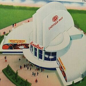 VTG 1939 New York World's Fair Postcard The Sealtest  Building Q1