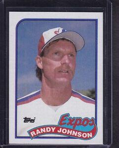 Image Is Loading Randy Johnson 1989 Topps Baseball Rookie Card 647