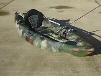 Sit On Top Fishing Kayak Canoe Galaxy Cruz 2016 Model With Free Trolley