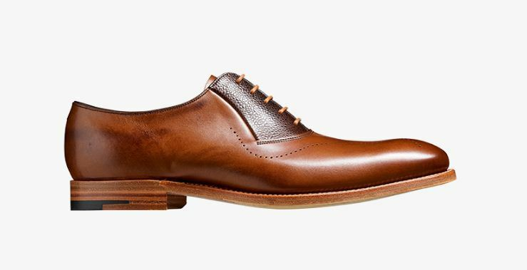 Handmade Men's Leather Two Tone Oxford Brogue Whole Cut Lace-Up Formal scarpe