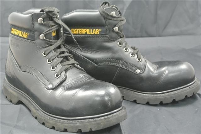 CATERPILLAR HIGH Stiefel SIZE 9 UK Schuhe WORK CAT OIL WATER RESISTANT WORK Schuhe STEEL TOE 8fb3db