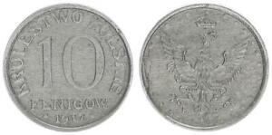 Nebengebiete/Polonia 10 Fenigow Hierro 1917 VF XF 61009