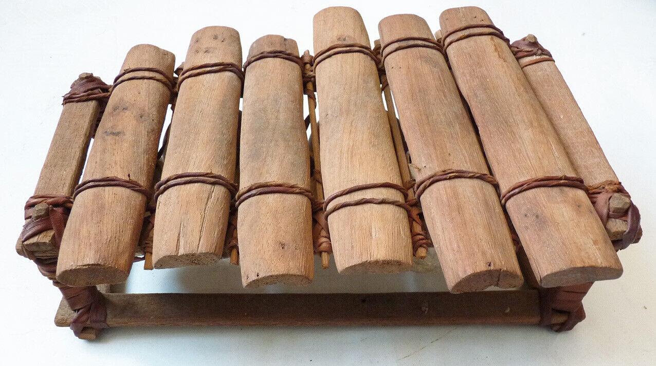 Balafon à 6 lames Ancien début du 20e siècle xylophone africain Mali