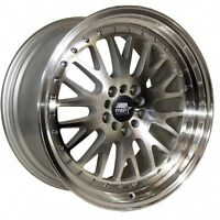 Mst Mt10 16x8 +20 5x100 5x114.3 Silver 5lug Accord Integra Itr Prelude Civic Tsx
