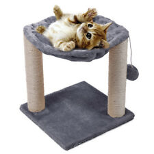 Cat Tree Hammock Scratch Post House Net Bed Furniture for Play with Toy Gray