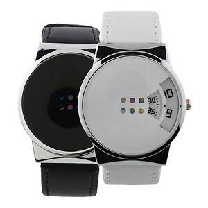 Reloj-Pulsera-Moderno-Cuero-Imitacion-Hombre-Mujer-Caja-Aleacion-Digital-Lujoso