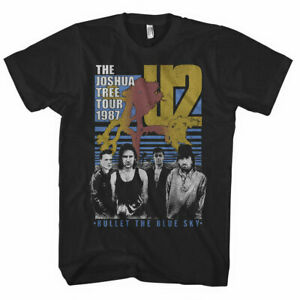 U2-Bullet-The-Blue-Sky-Mens-T-Shirt-Unisex-Tee-Official-Licensed-Band-Merch